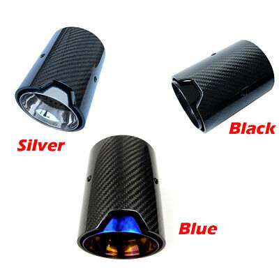 1xCarbon Fiber Exhaust Tips for BMW with M-POWER M Colored Muffler Pipe Tailpipe