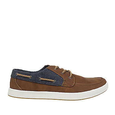 NEW Spendless Mens Declan Olympus Casual Boat Shoe Lace Up