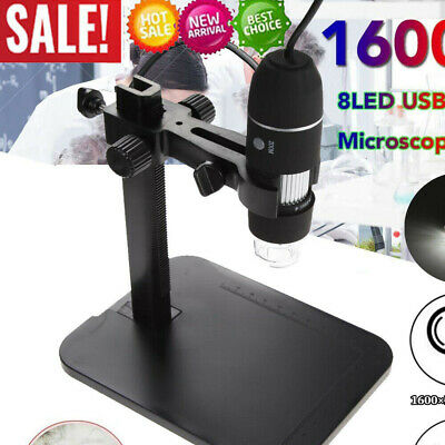 8LED 1000X 10MP USB Digital Microscope Endoscope Magnifier Camera +Lift Stand