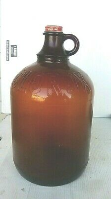 One Gallon, Brown Glass Jug that Originally Contained Clorox