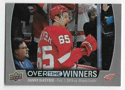 19/20 2019 UD OVERTIME HOCKEY WAVE 1 OT WINNERS CARDS (OW-XX) U-Pick From List