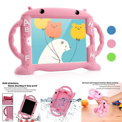 For iPad 4 3 2 9.7'' 6th Pro 10.5 Mini 4 3 2 1 Kids Tablets Handle Stand Case