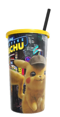 HOYTS Exclusive Collectible - Detective Pikachu 940ml Cup with lid and straw