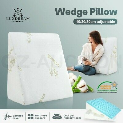 Luxdream Adjustable Wedge Pillow Cool Gel Memory Foam Back Support Sleep Cushion
