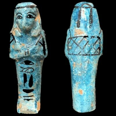 EGYPTIAN HIEROGLYPHIC SHABTI, LATE PERIOD 664 - 332 BC (4) Large Over 9 cm !!!!