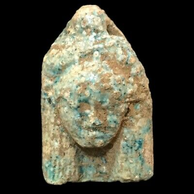 Beautiful Ancient Egyptian Goddess Hathor Amulet 300 Bc (12)