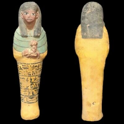 EGYPTIAN HIEROGLYPHIC SHABTI, LATE PERIOD 664 - 332 BC (5) Large Over 17 cm !!!!