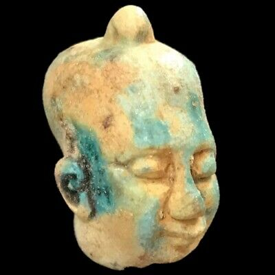 Beautiful Ancient Egyptian Bust Amulet 300 Bc (16)