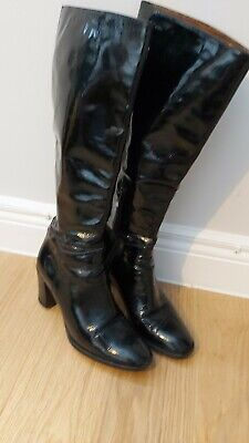 Hobbs Sophia Stretch Suede Mix Black Knee Boots RRP £299. Various Sizes