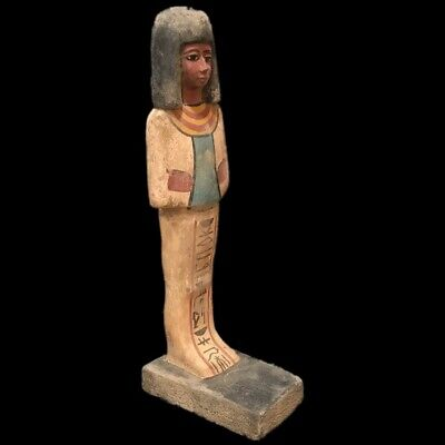 Beautiful Ancient Huge Egyptian Wooden Statuette 300 Bc (1) 32 Tall !!!!!