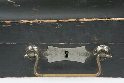 Antique 1800's Wooden Coffin Sytle Violin Fiddle Case Instrument GSB DISPLAY old