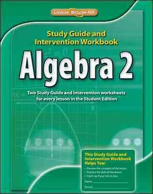 Algebra 2, Study Guide & Intervention Workbook by McGraw-Hill (English) Paperbac