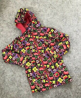 Boboli Girls Age 12 152cm Mac Raincoat Coat Waterproof Floral Fleece Lined