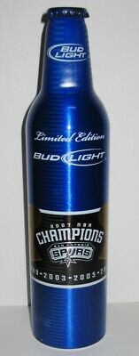 San Antonio Spurs Collector /& Limited Bud Light Aluminum Bottle