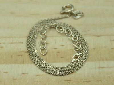 """Italy Sterling Silver Rolo Link Adjustable Chain Necklace 16"""""""