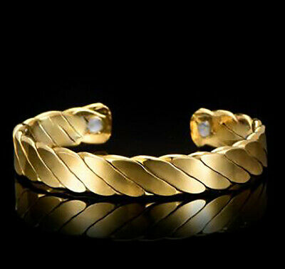 HEALING BRACELET HQ Golden BIO MAGNETIC HEALING THERAPY FOR ARTHRITIS UK seller