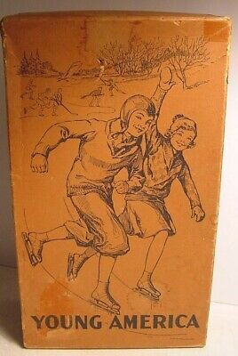 Vintage Ice Skate Outfit Box-Great Graphics-Young America Tubular Skate Outfit