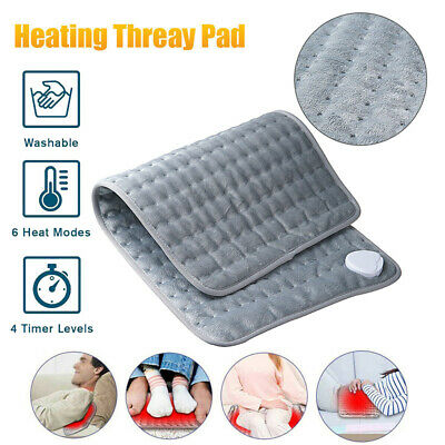 Electric Heating Pad Heat Therapy Fast Neck/Shoulder/Back Pain Relief Popular