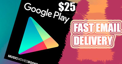 Google Play Gift Card 25 $ Fast Delivery