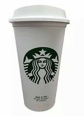 STARBUCKS Reusable Recyclable Grande 16 OZ Plastic Travel To Go Coffee Cups