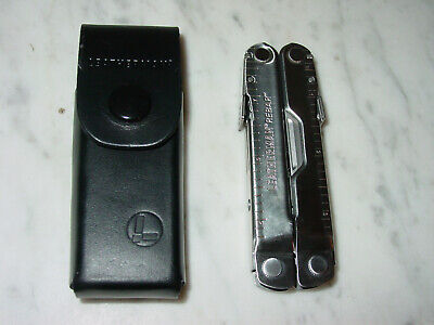 Leatherman Rebar Multi-Tool, Stainless w/ Leather Sheath New!