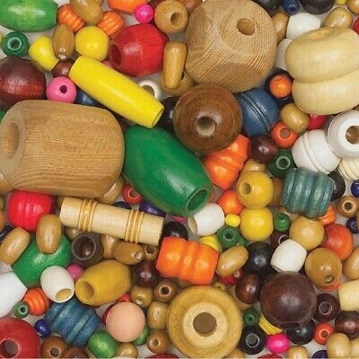 Assorted Wood Beads 1 Lb. Package  - Assorted Wood Beads