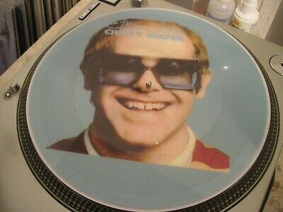 "Elton John - Crazy Water Rare 12"" Picture Disc Promo LP (The Best Greatest Hits)"