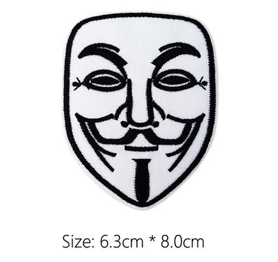 Anonymous V for Vendetta Embroidered Patch for Embroidery Patches Badge Iron Sew