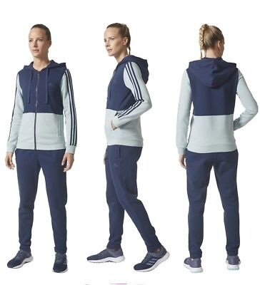 ADIDAS DAMEN BAUMWOLL TRAININGSANZUG Essentials Linear EUR