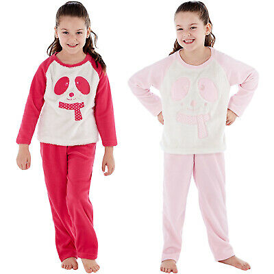 Selena Girl Kids Childrens Warm Soft Fleece Cosy Sleepwear Pyjamas PJs Set