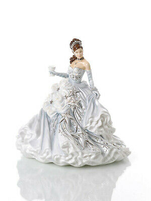 The English Ladies Co Congratulations Silver Doll Figurine, New And Boxed