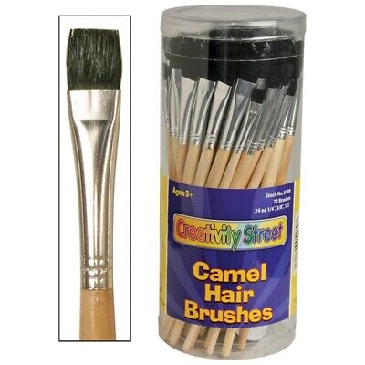 Creativity Street Camel Hair Flat Brush Assortment