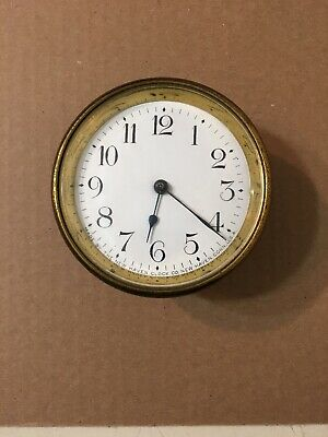 Antique New Haven Mini Banjo Clock Movement Enamel Dial & Hands