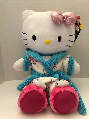 Build A Bear White Hello Kitty 2012 Pajamas Slippers Sanrio