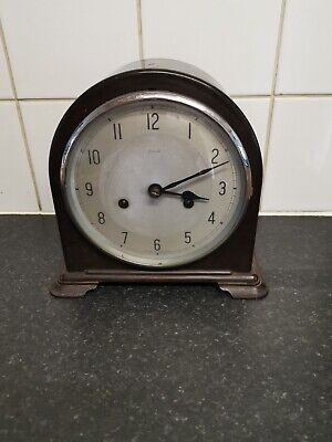Smiths Enfield Bakelite mantel clock dome shaped with pendulum SPARES REPAIR