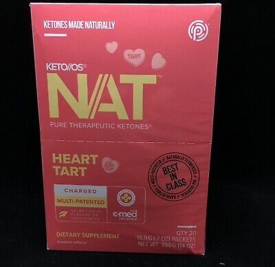 Pruvit NAT HEART TART Charged! KETO DIET 5,10,20 & 40 Packets Available Caffeine