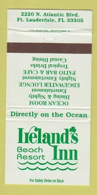 Matchbook Cover - Ireland's Beach Resort Inn Fort Lauderdale FL WEAR 30 Strike