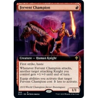 FERVENT CHAMPION (EXTENDED ART) Throne Of Eldraine Variants Magic MTG MINT CARD