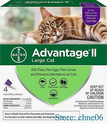 Bayer Advantage II Flea Prevention for Cats over 9lbs - 4 Doses - Free Shipping