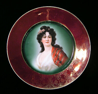 Late 1800s Royal Vienna Style Hutschenreuther Cabinet Portrait Plate No. 7270