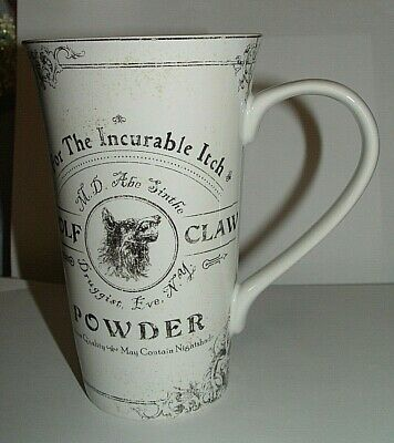 222 Fifth Hallow Apothecary Latte Mug Wolf Claw Powder for the Incurable Itch
