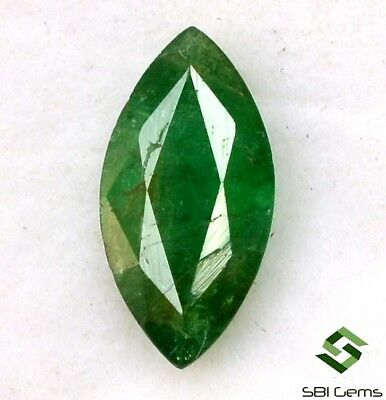 1.08 Cts Certified Natural Emerald Marquise Cut 10x5 mm Faceted Loose Gemstone