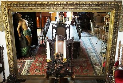 Castle Wood Mirror 2,8m Huge Painting Pictures Frame Old Antique Baroque Rococo