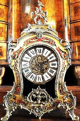 Big Pracht Boulle Mantel Pendule Clock Old Antique Baroque Louis Tiffany Victor