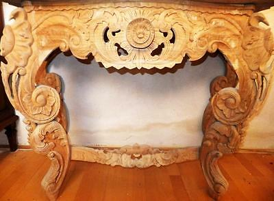 Wall Living Table Dresser Console Exotic Wood Carved Table Sideboard Baroque