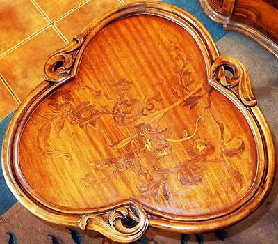 Marquetry Inlaid Living Room Table Inlaid Table Artdeco Art Nouveau Biedemeier