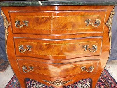 Dresser Marble Inlaid Commode Baroque Baroque Rococo Rococo Empire 18 19 Antique