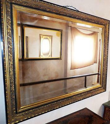 1,5m Large Gold Wood FACET Cut Relief Wall Mirror Alt Antique Baroque Rokoko