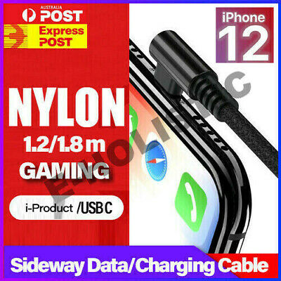 Right Angle 1m 2m Elbow USB 3.0 Lightning Charger Charging Data Cable for iPhone
