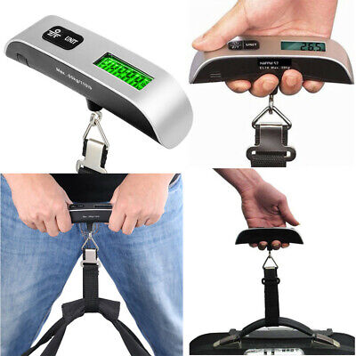 50kg/10g Portable Travel LCD Digital Hanging Luggage Scale Electronic Weight LQ